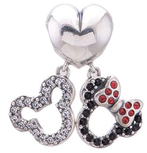 Heart /w Dangle Mouse Ears Charm Bead